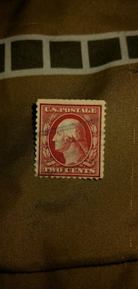 red and white postage stamp South Hutchinson, 67505