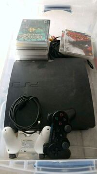 black Sony PS3 slim console with controller Calgary, T3J 3N1