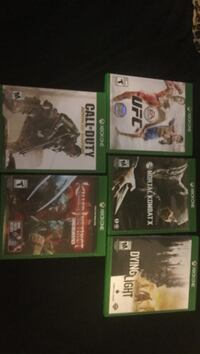Four xbox one games