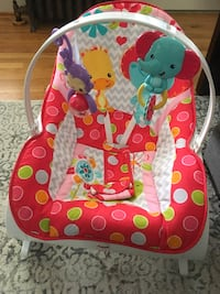 baby's pink and white bouncer Arlington, 22207