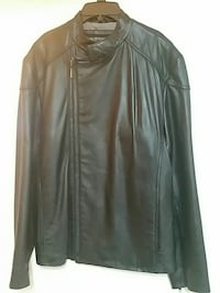 NEW Black Murano leather jacket size M, never worn
