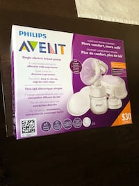 white Philips Avent single electric breast pump box Toronto, M1J 2G7