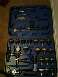 Radiator pressure tester and cooling system kit