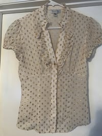 Bebe gold button up top XS  Henderson, 89014