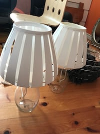 two white ceramic table lamps Ottawa, K1X 1B3