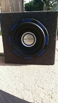 black and blue subwoofer speaker Hastings, 68901