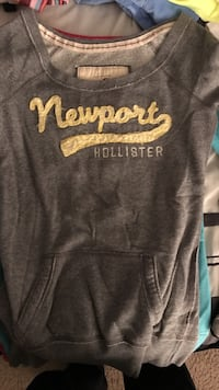 gray Newport Hollister pull-over hoodie Cary, 27519