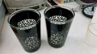 Black patterned glass candle holders Wigan, WN5 9LZ