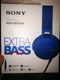 New Sony Extra Bass MDR-XB550AP on ear headset