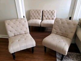 Tuft Linen Accent Chairs