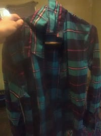 black and green plaid button-up jacket Portage, 49024