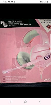 New Pink Gaming Headset