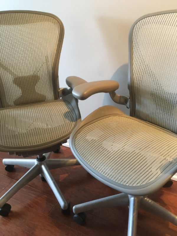 2 Herman Miller Aeron chairs - Lightly used ae793173-d489-4898-90be-4de8d0a417f1