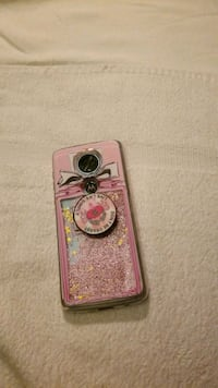 pink and gray glitter smartphone case Wilmington, 28401