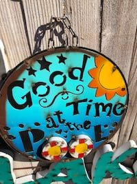 """15.5"""" Good Time at the Pool Sign Midland, 79707"""