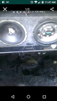 two black and gray subwoofers Bakersfield, 93306
