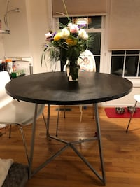 "40"" round dining table from CB2"
