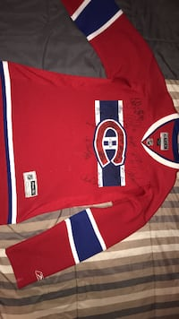 Montreal Canadiens jersey with signatures MONTREAL