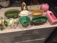 12 old pottery pieces