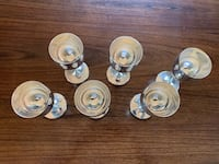 Silver looking brass stem glasses (6) Calgary, T3C 2T7
