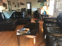 Entire sectional couch (separated in photo) coffee table two end tables and two lamps !! Can all be bought separately as well Los Angeles