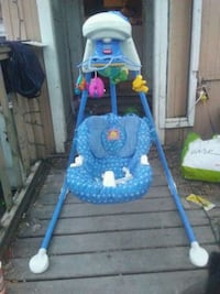 baby's blue and white swing chair Regina, S4T 3J2