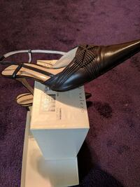 unpaired black leather pointed-toe heeled shoe Clinton, 20735