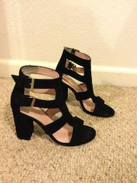 Kate Spade black ankle open toe shoes. Size 5. Barely used   Roseville, 95678