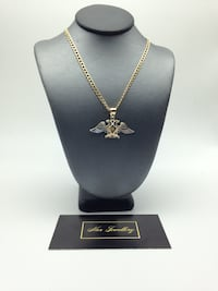 """10k gold 24"""" curb chain with eagle pendant  Toronto, M6G"""