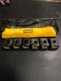 DeWalt Chargers (5) and DeWalt bag Woodbridge, 22193
