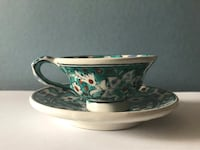 White and green floral teacup set Palatine, 60074
