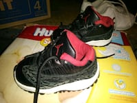 pair of black-and-pink Nike running shoes Chicago, 60609