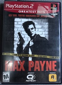 Max Payne for PlayStation 2 PS2 Complete Vaughan, L4H 3J4