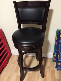 Black leather padded wooden chair  Waltham, 02453