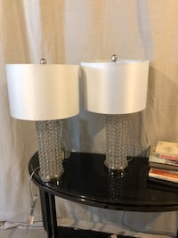"""2 """"crystal"""" lamps"""