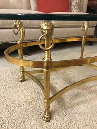 Oval Labarge Brass and Beveled Glass Coffee Table Gaithersburg, 20878
