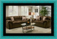 Chocolate fabric sofa and loveseat Clarksville, 21029