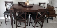 brown wooden dining table set Toronto, M9R 1V5