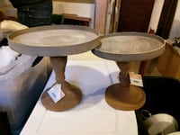 round brown wooden side table Brampton, L6V 2S8
