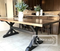 rectangular brown wooden dining table Vaughan, L4H 3L4