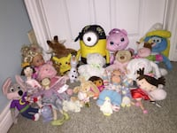 Assorted animal plush toys lot Cambridge, N3C 3Y2