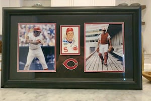 Signed Frame Pic of Johnny Bench