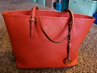 women's red Michael Kors leather tote bag Albuquerque, 87109