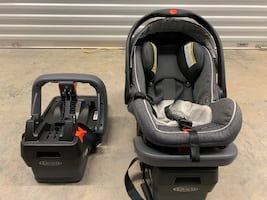 Infant graco snug ride click connect car seat with 2 bases