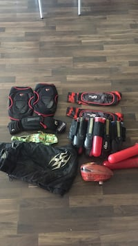 Paintball elbow and knee pads, hopper, belt and pants Los Angeles, 90007