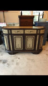 White and brown wooden sideboard