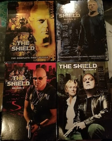The Shield dvd box sets season 1,2,3,4.