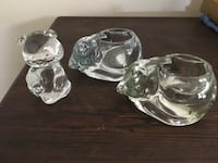 Glass figurines/candle holders North Wales, 19454