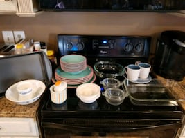 Bundle of nice dish ware, cups and cookware