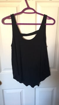 Black flowy top with cut out back Windsor, N8W 5N3